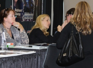 Gillian Anderson. Found out too late that I wasn't suppose to take her picture.